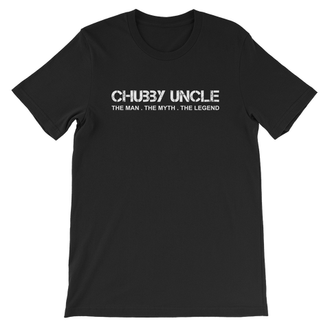 Chubby Uncle The Man. The Myth. The Legend - Short-Sleeve Unisex T-Shirt - Cozzoo