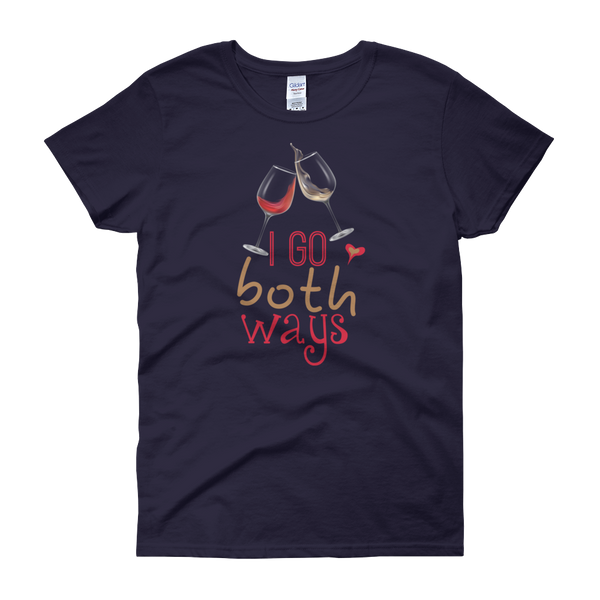I Go Both Ways - Wine - Women's short sleeve t-shirt - Cozzoo