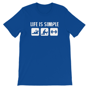 Life Is Simple - Fitness - Short-Sleeve Unisex T-Shirt - Cozzoo