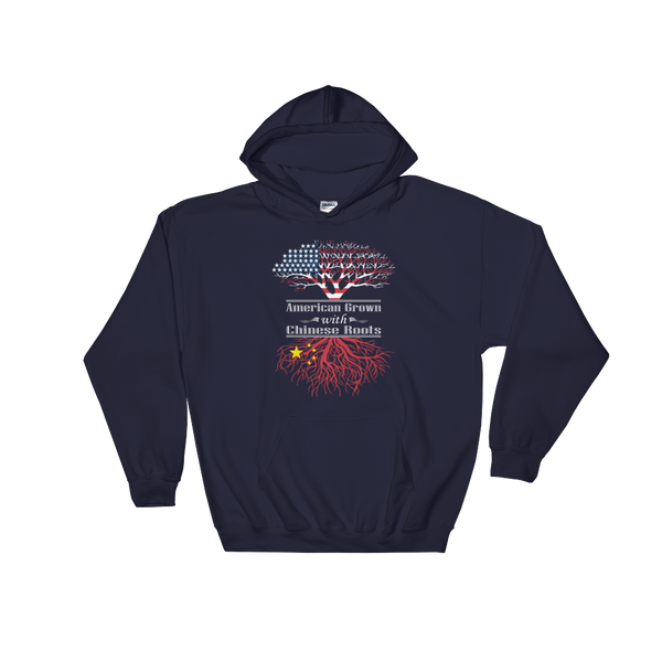 American Grown With Chinese Roots - Hoodie Sweatshirt - Cozzoo
