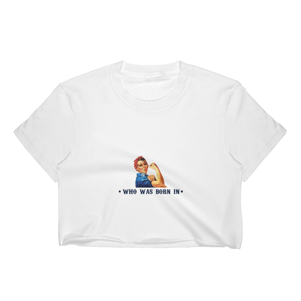 Never Underestimate A Woman Who Was Born In May - Women's Crop Top - Cozzoo
