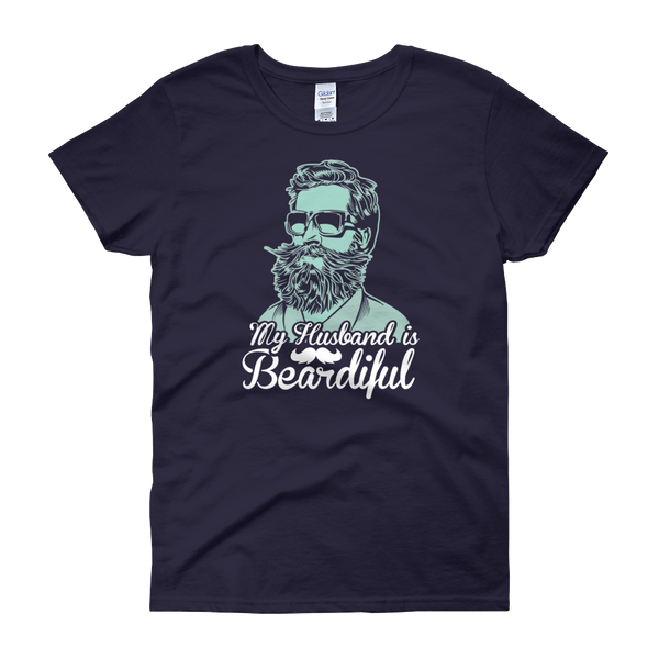 My Husband Is Beardiful - Women's short sleeve t-shirt - Cozzoo