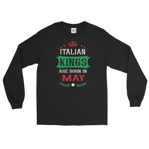Italian Kings Are Born In May - Long Sleeve T-Shirt - Cozzoo