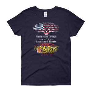 American Grown With Spaniard Roots - Women's short sleeve t-shirt - Cozzoo