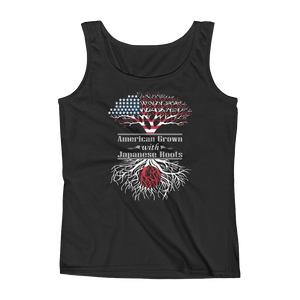 American Grown With Japanese Roots - Ladies' Tank - Cozzoo