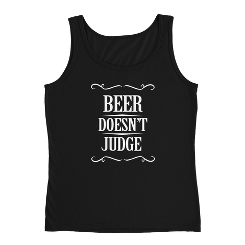 Beer Doesn't Judge - Ladies' Tank - Cozzoo