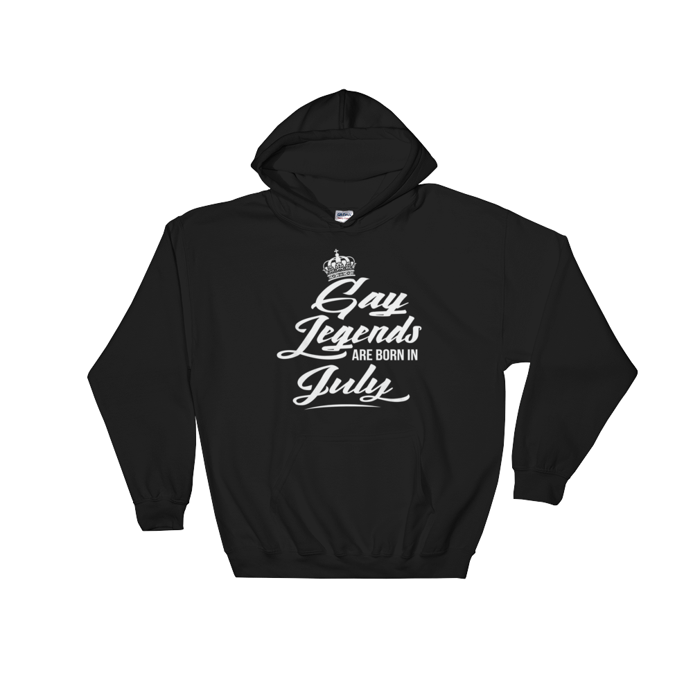 Gay Legends Are Born In July - Hoodie Sweatshirt Sweater - Cozzoo
