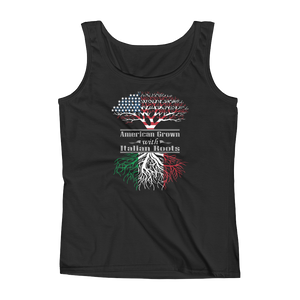 American Grown With Italian Roots - Ladies' Tank - Cozzoo