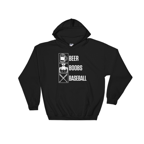 Beer Boobs Baseball - Hoodie Sweatshirt Sweater - Cozzoo