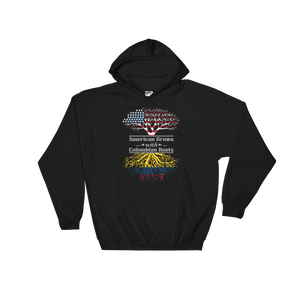 American Grown With Colombian Roots - Hoodie Sweatshirt Sweater - Cozzoo