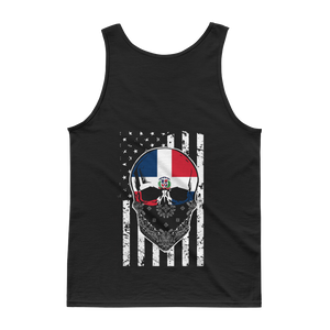 Dominican Skull + American Flag - Tank top - Cozzoo