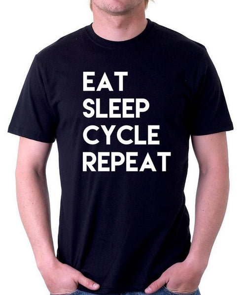 Eat Sleep Cycle Repeat - Men T-shirt - Cozzoo
