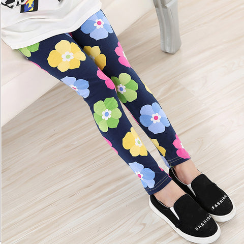 Navy Blue, White, Blue Floral Collection Leggings Kid Child Baby Toddler New Born Infant Pants - Cozzoo