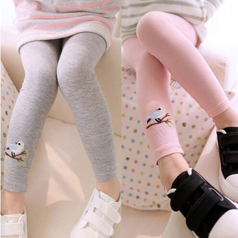 Gray, Pink, White, Yellow Bird Collection Leggings Kid Child Baby Toddler New Born Infant Pants - Cozzoo