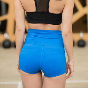 Mermaid Curve Women Gym Compression Booty Shorts Spandex Ladies Volleyball Running lycra Athletic - Cozzoo