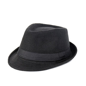 Fedora Trilby Hat - Wide Brim Unisex flat top Gorra wool Chapeu - Cozzoo