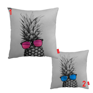 Pineapple Sunglasses Fruit Decorative Couch Sofa Cute Pillows Cases Home Decor - Cozzoo