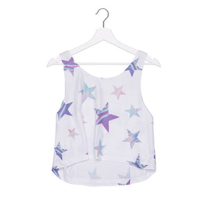 Holo Stars Tank Top - Women's Crop Top - Cozzoo