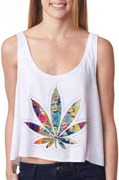 Diamond - Leaf - Cannabis/Marijuana Women's Tank Top - Cozzoo