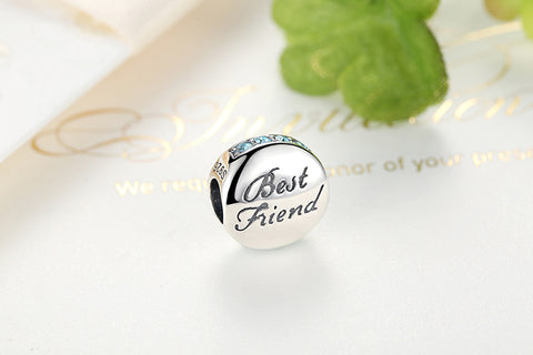 Best Friend Jewelry - BFF - Friendship - Charm Bracelet Bangle Pendant - Cozzoo