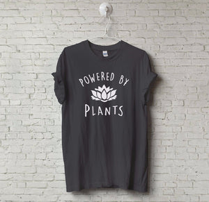 POWERED BY PLANTS - Vegetarian Vegan Tee - Cozzoo