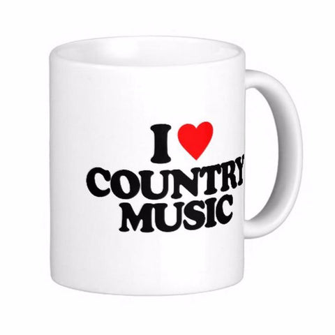 I Love Country Music Coffee Tea Mugs - Cozzoo