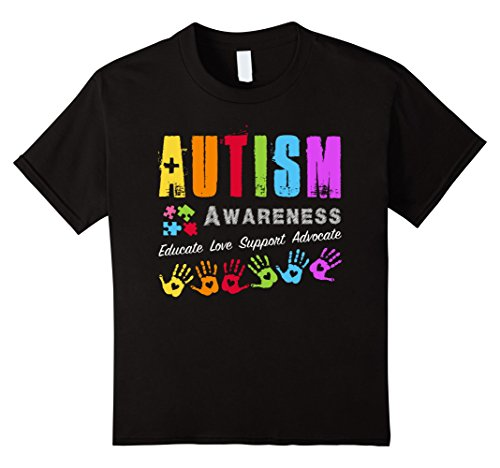 Autism Awareness - Educate Love Support Advocate - Unisex T-shirt - Cozzoo