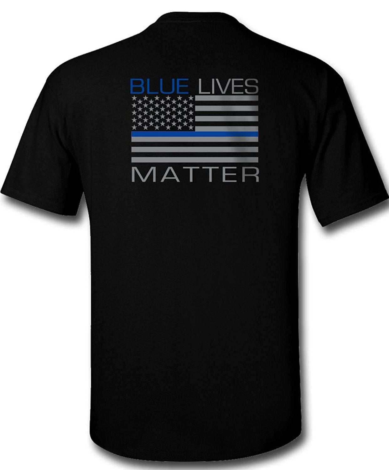 Blue Lives Matter T-Shirt Law Enforcement Police Tee - Cozzoo