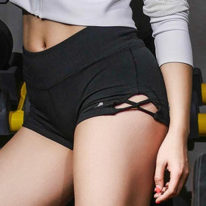 Breathable Slim Elastic Women Gym Compression Booty Shorts Spandex Ladies Volleyball Running lycra Athletic - Cozzoo