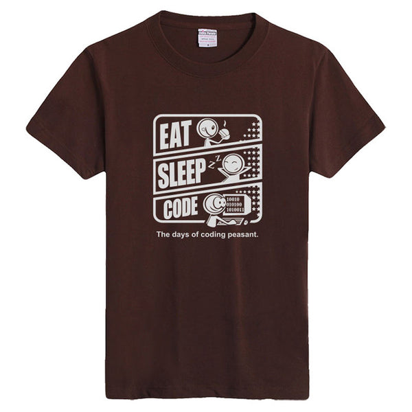 Eat Sleep Code - The Days Of Coding Peasant - Programmer Men T-shirt - Cozzoo