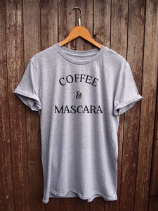 Coffee & Mascara - Women's Tee - Cozzoo