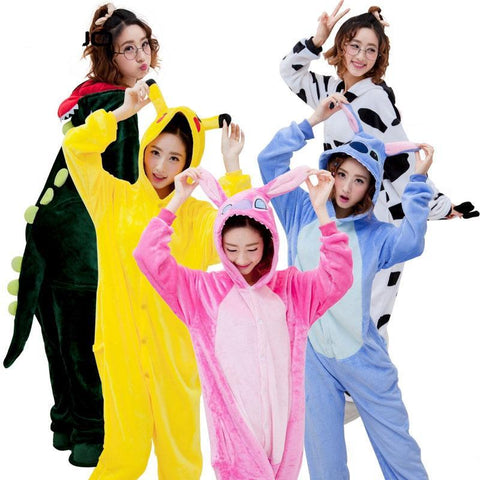 Panda Bear Dragon Unicorn Pajamas Adult Hoodie Onesie - Cozzoo