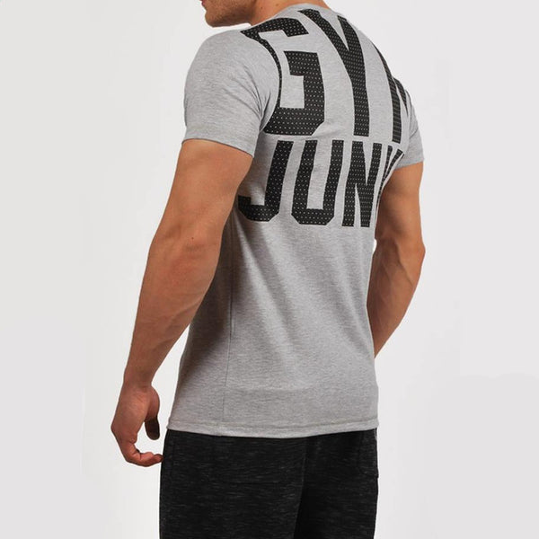 Gym Junky - Men Fitness T-shirt - Cozzoo