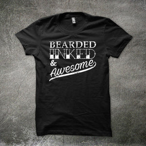 Bearded Inked & Awesome - Men's T-shirt - Cozzoo