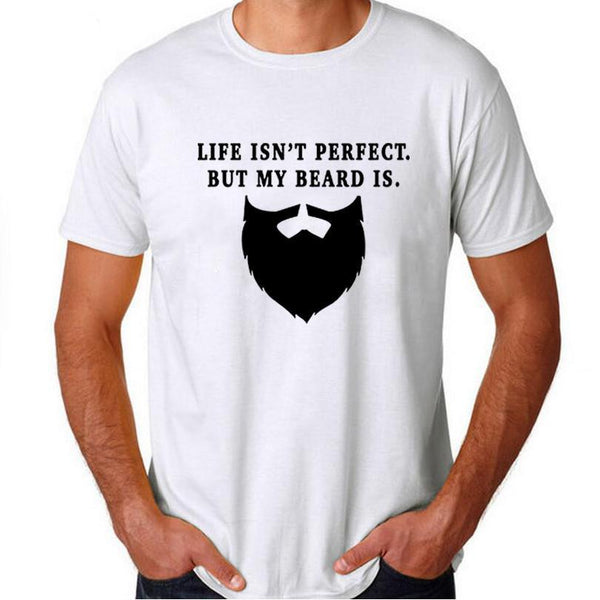 Life Isn't Perfect But My Beard Is - Men's T-shirt - Cozzoo