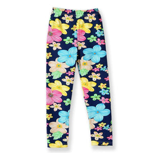 Blue, Dark Blue Floral Collection Leggings Kid Child Baby Toddler New Born Infant Pants - Cozzoo