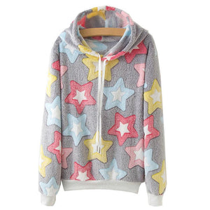 Colorful Stars All Over Print Hoodies - Cozzoo