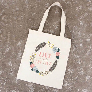 Live And Let Live Handbag/Shoulder Shoulder Beach Tote Purse Canvas Handbags Totes Bags - Cozzoo