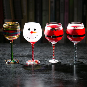Christmas Snowman Wine/Champagne Glasses - Cozzoo