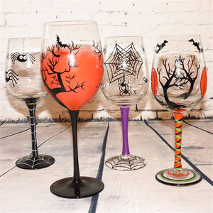 Halloween Spider Web Tree Wine/Champagne Glasses - Cozzoo