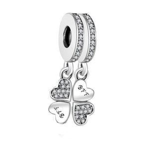 Best Friend Jewelry - BFF - Friendship  - Pandora Charm Bracelet Pendants - Cozzoo