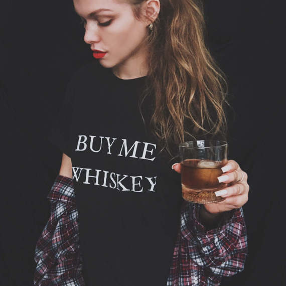 Buy Me Whiskey - Women's Drinking Tee - Cozzoo