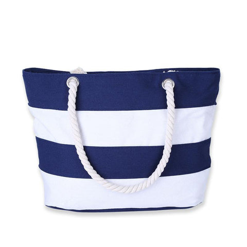 Stripes Handbag/Shoulder Shoulder Beach Tote Purse Canvas Handbags Totes Bags - Cozzoo
