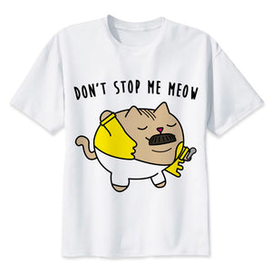 Don't Stop Me Meow Funny T-Shirts - Cozzoo
