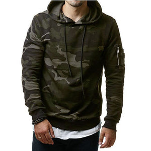 Green Camouflage Pullover Hoodies - Cozzoo