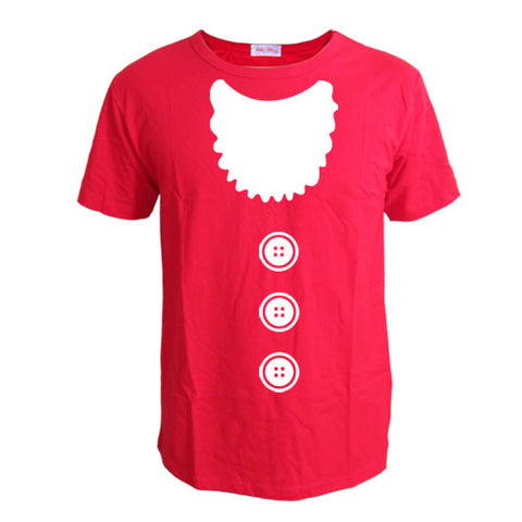 Santa Beard T-Shirts - Men's Crew Neck Novelty Top Tee - Cozzoo