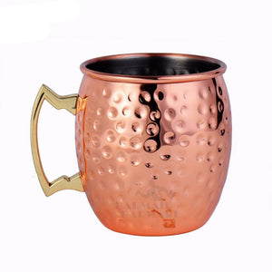 Hammer Copper Drum Beer Mug Cup - Cozzoo
