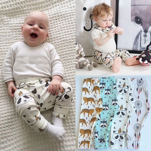 Panda, Fox, Tiger, Dream Catcher Collection Leggings Kid Child Baby Toddler New Born Infant Pants - Cozzoo