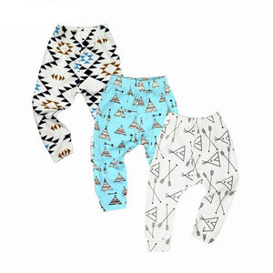 White Black, Sky Blue, Geometric Collection Leggings Kid Child Baby Toddler New Born Infant Pants - Cozzoo