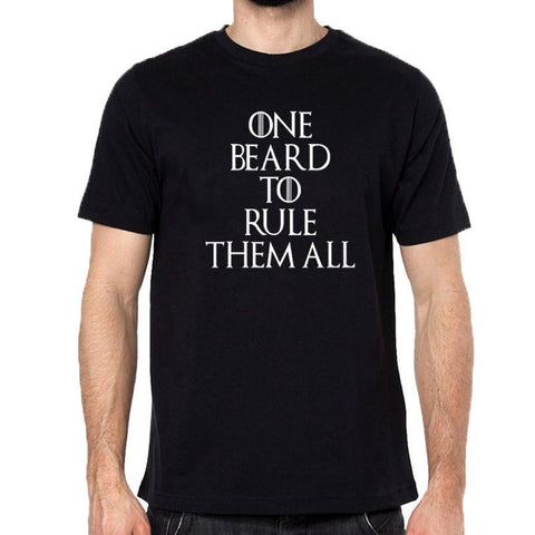 One Beard To Rule Them All T-Shirts - Men's Crew Neck Novelty Top Tee - Cozzoo